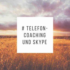 Coaching am Telefon und über Skype - Grafik Schrift