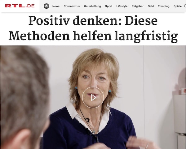 Positiv denken: Karen Hartig als Expertin der RTL-Reportage